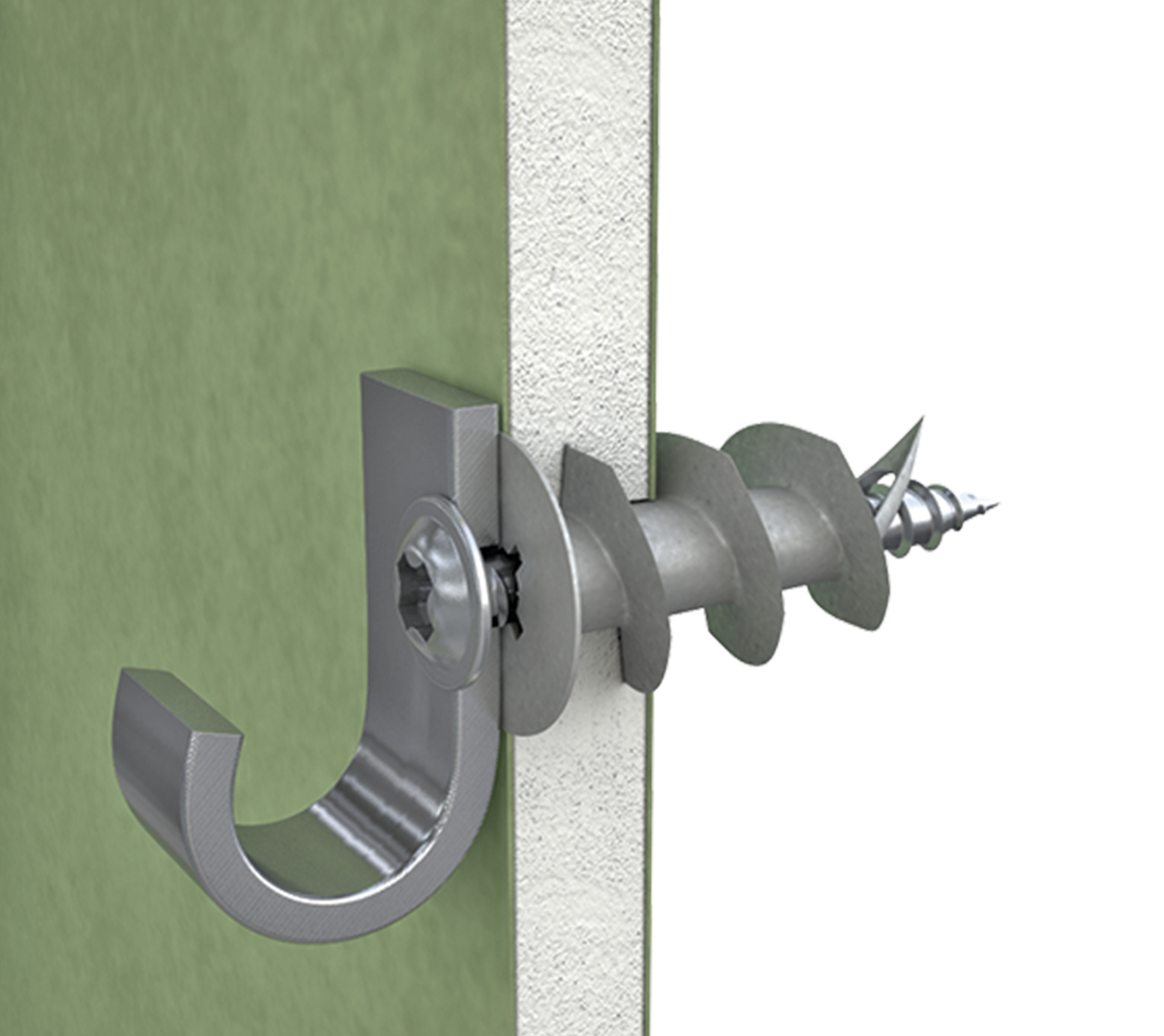 Interset fixing for permanent anchorages in cavity walls