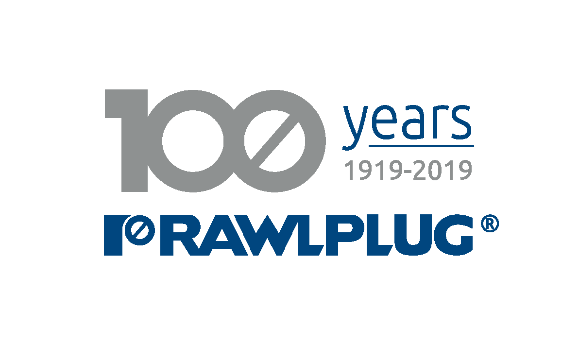 Rawlplug Logo 100 years - silver transparent